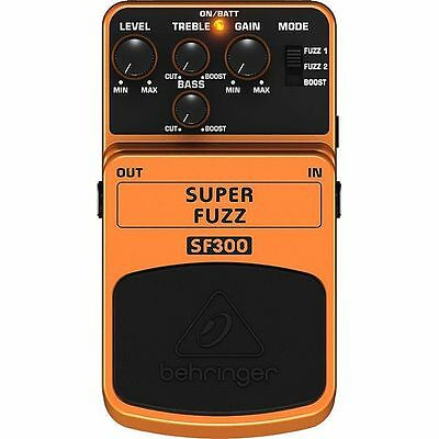 Behringer SF300 Super Fuzz 3 Mode Fuzz Distortion Effects Pedal