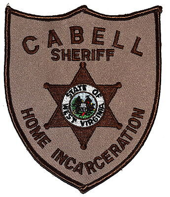 CABELL -  HOME INCARCERATION - WEST VIRGINIA WV Sheriff Police Patch OLD MESH ~