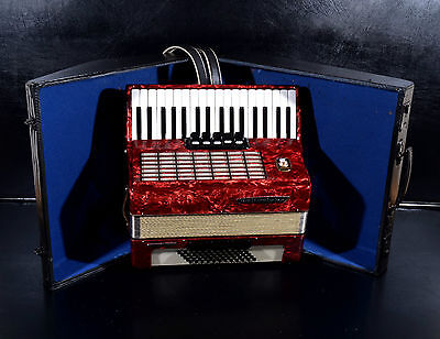 TOP GERMAN PIANO ACCORDION WELTMEISTER STELLA 60 bass, 8 registers+HARD CASE