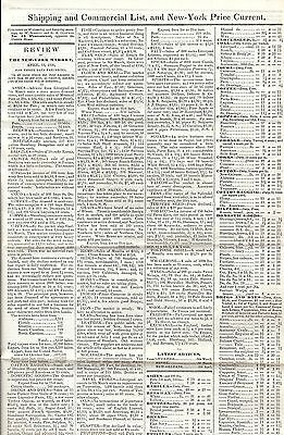 Shipping & comm.List New York Market price current PINESTREET March 1836