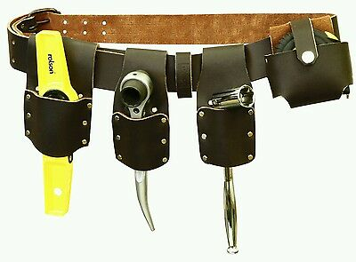 Pro Scaffold Top Grain Leather Tools Belt Set With  Tools 100% guarantee