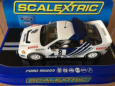 Scalextric C3156 FORD RS200, Kalle Grundel, Rally of Sweden, 1986