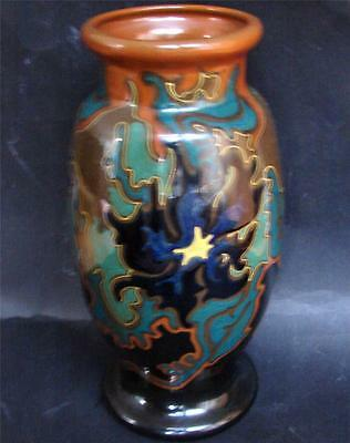 Beautiful Perfect Dutch Art Nouveau Gouda Holland Zenith vase ca. 1920