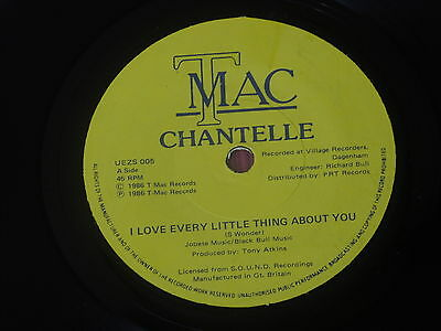 """Chantelle:  I love every little thing about you 7""""  1986 Funk Boogie"""