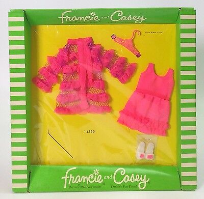 Vintage 1969 Fashions For Francie & Casey #1238 Snappy Snoozers #3 Nrfp