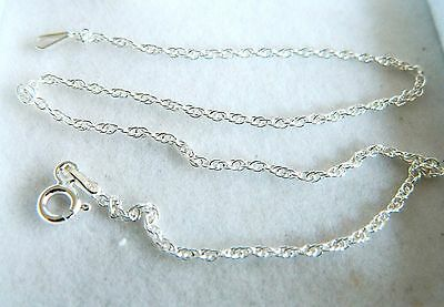 """NEW Sterling Silver Ladies Prince of Wales Anklet / Ankle Chain 9.5"""""""