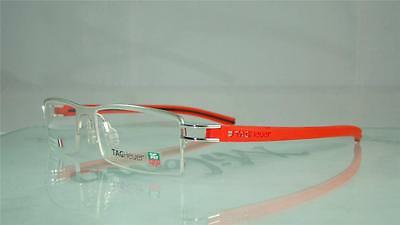 Tag Heuer TH 7623 005 PURE RED Half Rim Glasses Eyeglasses Frames Size 56