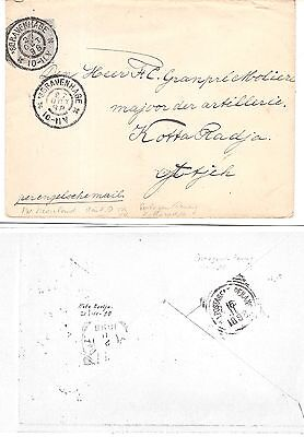 Netherlands Indies Postagent PENANG ship route 1898 cover to Kota Radja