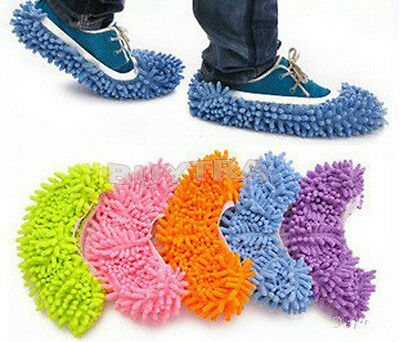 Lazy Mopping Shoe Floor Mopper Slipper Mop Cover Cleaner  Cleaning Foot Sock