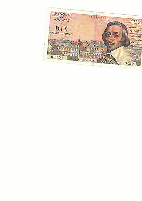 10 Francs Note Frankreich 1962 10 NF