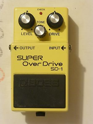 Boss super overdrive sd-1 made in japan black label