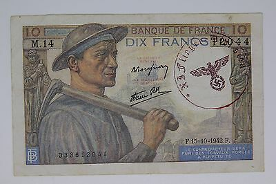 France Germany occupation banknote WWII/WW2