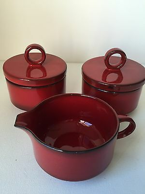 Villeroy & Boch Granada Porcelain 2 Cream and 1 Sugar Red Luxembourg