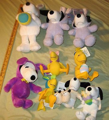 Lot Of 9 Snoopy Plush Peanuts Plushes Lot #2
