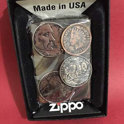 Zippo Coins Lighter Collectible Limited Edition Used Design VERY RARE!!