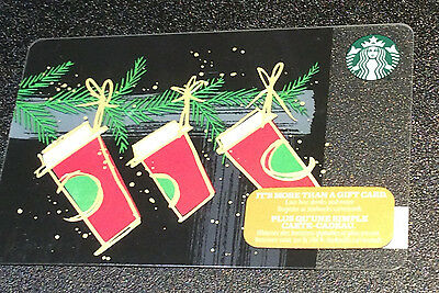"STARBUCKS Canada: (SB#213) ""Three Cups"" Collectable Gift Card"