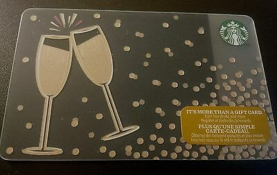 "STARBUCKS Canada: (SB#138) ""Champagne Glasses"" Collectable Gift Card"