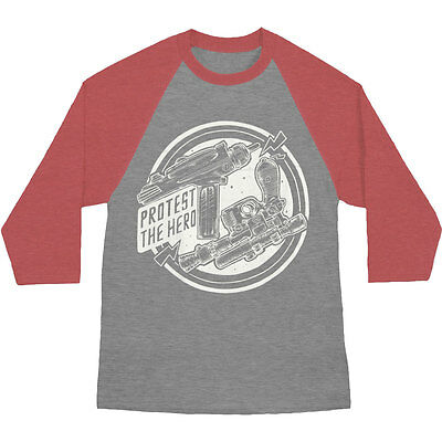 Protest The Hero Men's Pew Pew Baseball Jersey Medium Red & Grey