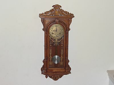 Unbranded Chime Wall Clock & Key (As-Is)