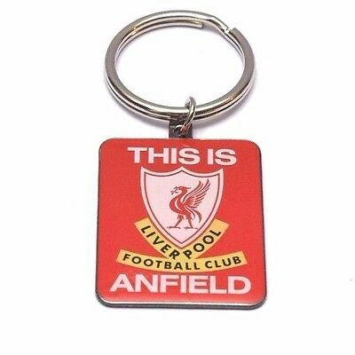 Liverpool FC Football Club Square Metal Red Anfield Key Ring Keyring Fan Gift
