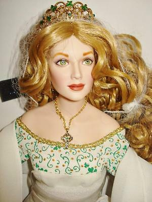 """Angel of the Emerald Isle"" Franklin Mint Porcelain Doll- an Irish Beauty!!!"