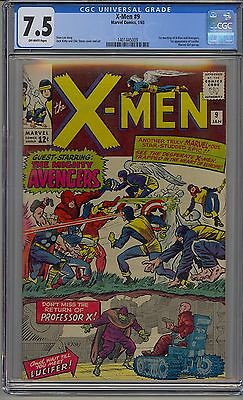 X-Men #9 Cgc 7.5 Off-White Pages Marvel