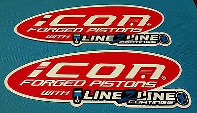 ICON PISTONS racing decals stickers nhra drags diesel nhrda nostalgia hotrod