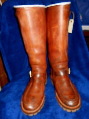 Wienbrenner Made In Usa Hunt  Boots Snake Proof,  10 D Bull Leather ,