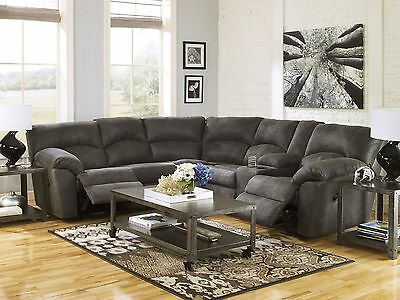 SALINAS-Modern Microfiber Motion Reclining Sofa Couch Sectional Set Living Room