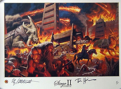 Hildebrandt The Tolkien Years:siege Ii Limited Edition Lithograph S/n W/coa New