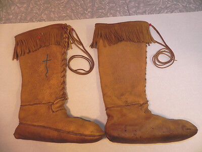 Genuine Hand Made Knee High First Nations Moccasins