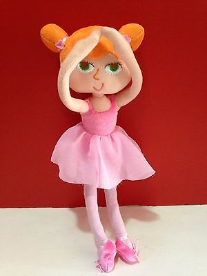 Hallmark Sabrina Ballerina Doll Cloth Ballerina Doll Pink Tutu Adjustable Arms
