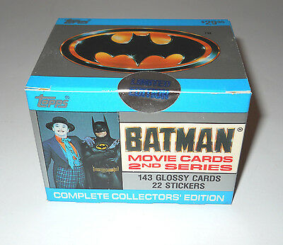 BATMAN THE MOVIE 2nd Series Complete Boxed Set 1989 ~ Topps Trading Cards Joker