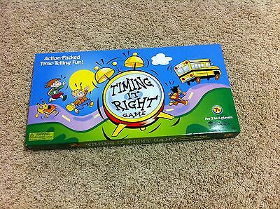 Telling Time Game by Learning Resources, Timing it Right! Ages 7+, Mint!