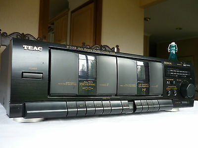 Vintage TEAC W-518R  Auto Reverse Double Cassette Deck with High Speed Dubbing