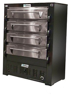 Peerless Ovens 2348P 4 Deck Gas 8 Pan Commercial Pizza Oven w/ Pizza Stones