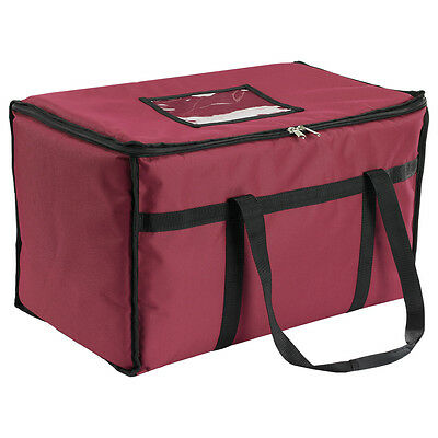 San Jamar FC2212-RD 22in x 12in x 12in Insulated Food Carrier Burgundy