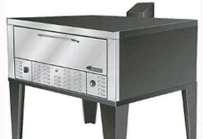 "Peerless Ovens CW200P 52"" Wide Double Deck Pizza Oven Gas Floor Model Stainless"