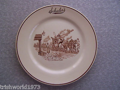 "Vintage Schuler's Restaurant 9"" Dinner Plate Marshall Mi Iroquois China"