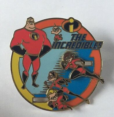 Disney Word WDW Pixar Trading Pin The Incredibles Family On The Move Slider