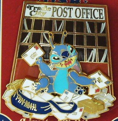 Wdw Le 500 Trade City Usa Post Office Mail Stitch Celebration 2010 Disney Pin