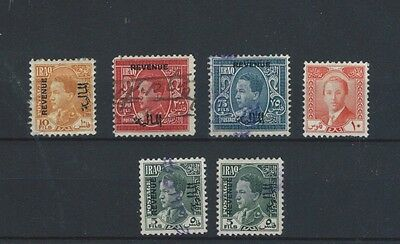 MIDDLE EAST Iraq Irak King Ghazi  vfu selection of revenue stamps - I(A)