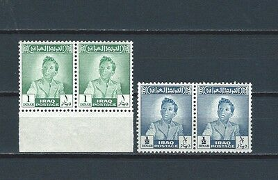 Middle East - Iraq Irak Faisal II 1 d &1/2 dinar stamp in never hinged pairs