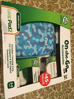 NEW LeapFrog LeapPad 2 On-the-Go Accessories Case Car Adapter $15 Digital Card