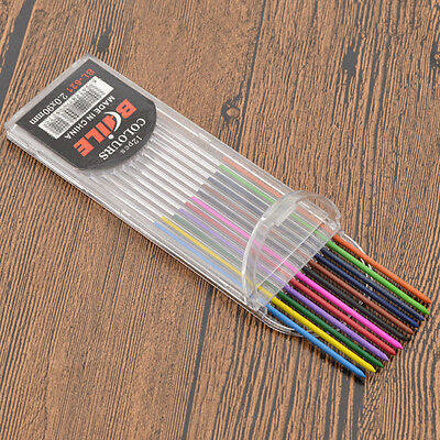 1 Set 12 Colors Mechanical Pencil Refill 2mm Lead Refills with Plastic Box