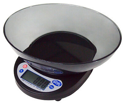 Globe GPS5 5lb Digital Portion Control Scale With Plastic Platter Bowl