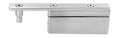 Brushed Stainless Glass-to-Glass Gate Pivot Patch