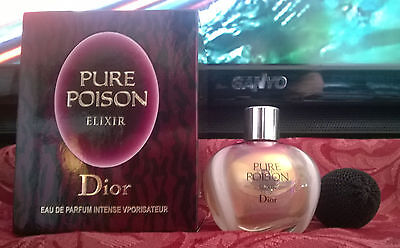 Pure Poison Elixir Christian Dior, with puffer, used, 30ml