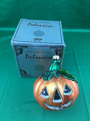 Pumpkin Halloween Ornament Polonaise Made In Poland For Kurt S. Adler