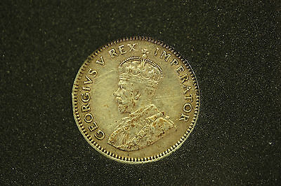 South Africa 1927 Silver 6 Pence EF.